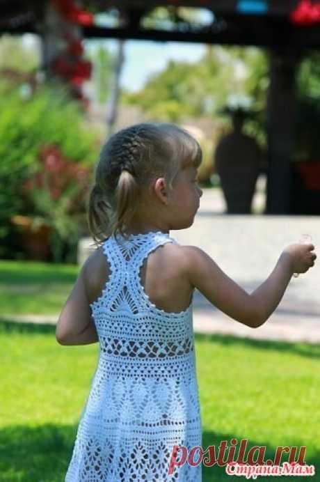 Помогите найти описание детского сарафана Добрый вечер, уважаемые рукодельницы! Ищу описание или мастер-класс детского сарафана, пожалуйста помогите. изделия крючком