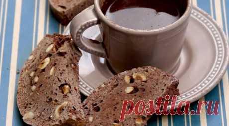 """Итальянское печенье """"Шоколадные бискотти с фундуком"""""""