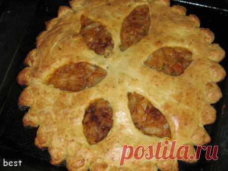 Вкуснейший творожный пирог с капустой - кулинарный рецепт