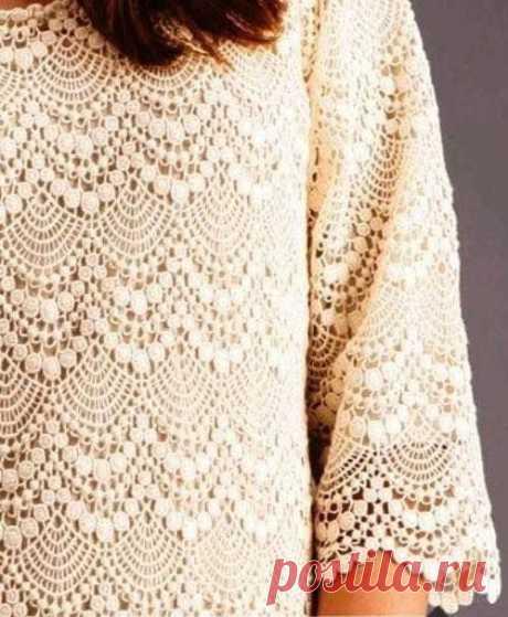 Кофточка (платье) узор