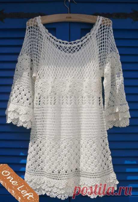 Нарядная туника (платье) с рукавом реглан крючком   Дневник Иримед