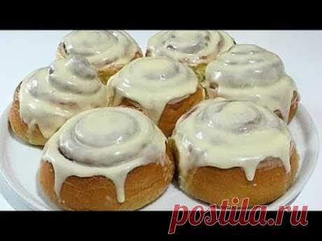 СИННАБОНЫ  Американские булочки с корицей и кремом /American cinnamon rolls Cinnabon — Смотреть в Эфире СЛИВОЧНЫЙ СЫР: https://www.youtube.com/watch?v=eVNSOAZiTgE\\u0026t=31s   ДОРОГИЕ ДРУЗЬЯ, просмотр рекламы на моих видео это Ваша благодарность за мои…