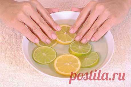 для ногтей с йодом и лимонным соком .
