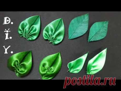 D.I.Y. Satin Ribbon Leaves - Tutorial | MyInDulzens