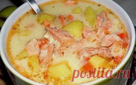 Суп с лососем - Кулинарные Рецепты