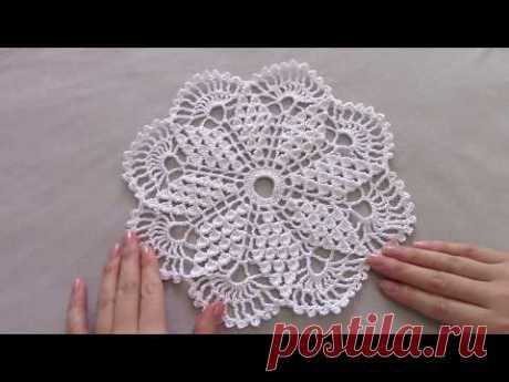 Нежная салфетка для начинающих/Simple Crochet Doily For Beginners