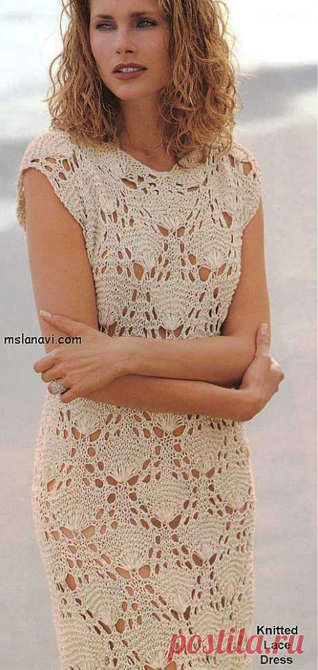 Очаровательное ажурное платье