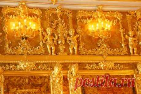 """The eighth wonder of the world\"" - The amber room or \""office\"" — the Interesting facts"