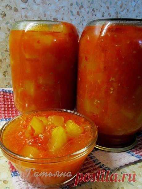 Кабачки в томате — консервируем со вкусом