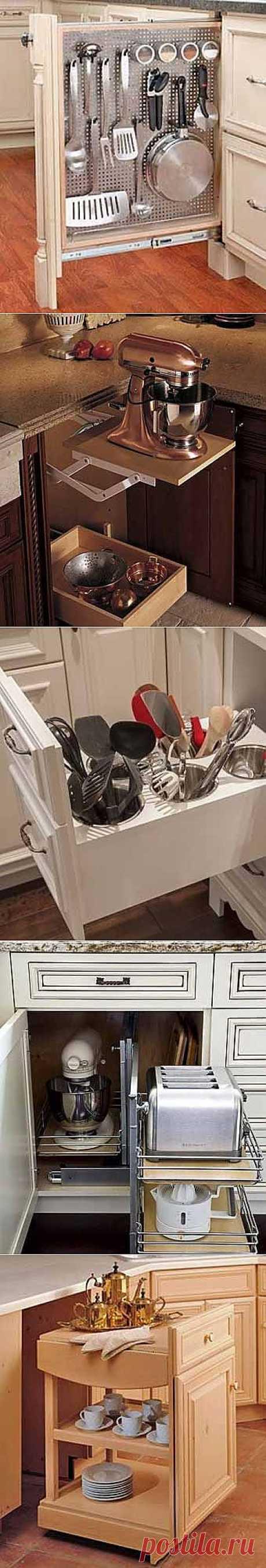 Где хранить посуду на кухне: 12 практичных идей для выдвижных полок - Учимся Делать Все Сами