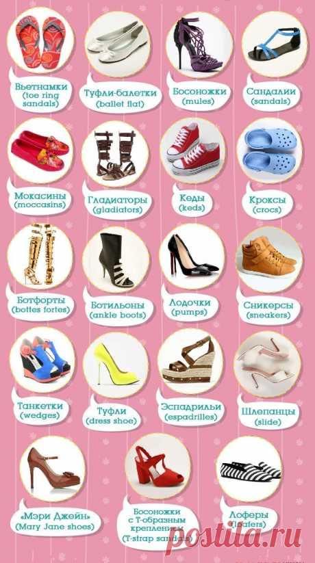 Виды обуви с картинками и названиями (12 фото) ⭐ Забавник