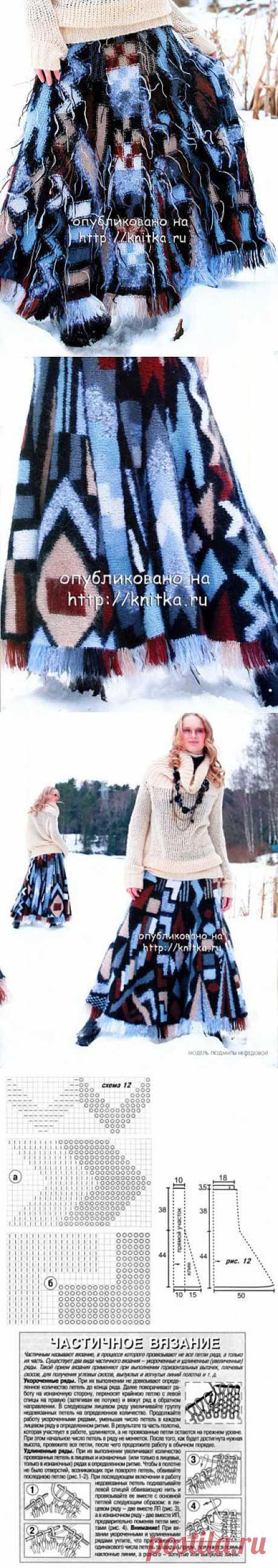 Юбка – трансормер, связанная спицами из рубрики Вязание для женщин. Вязание спицами модели и схемы на kNITKA.ru