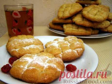 """La receta: las Galletas sobre la crema agria de \""""la cesta de mimbres\"""" en RussianFood.com"""