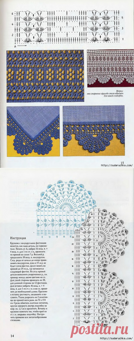 "The book on knitting ""Кружево in ретро&quot style;."