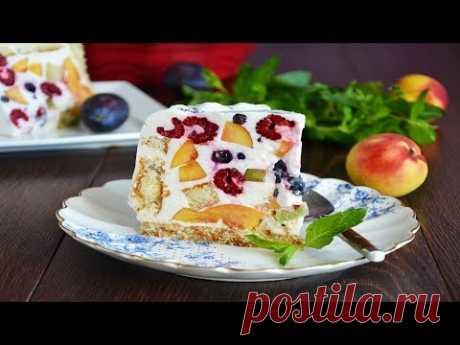 Торт Летний с фруктами и ягодами на желатине