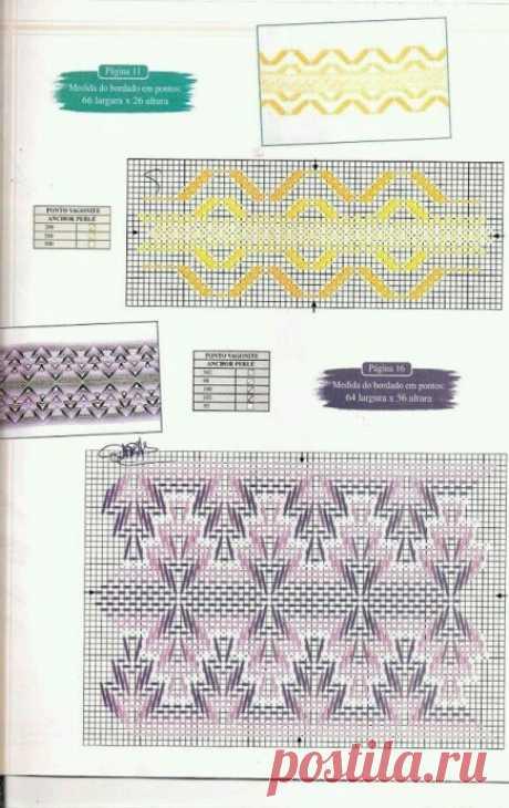 Шикарные узоры и стежки для вышивки