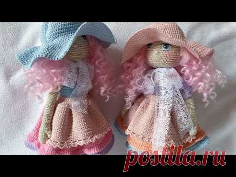 Crochet 🧶 Doll hat and apron ( doll oufit 👗)