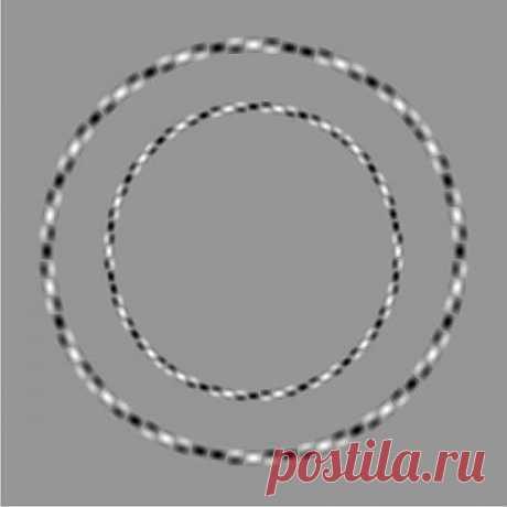 Это круги Зрительные искажения ровные... круглые...