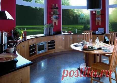 Кухня с панорамным видом- просто фантастика
