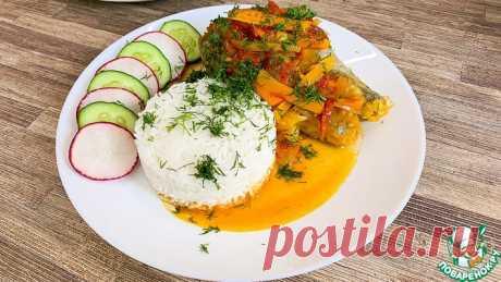 Хек с рисом и овощами Кулинарный рецепт