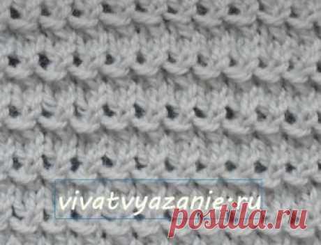 Мелкий ажурный горизонтальный узор спицами - описание Простой красивый узор для вязания спицами с фото и описанием. Подходит для вязания женских жакетов и детских нарядных вещей.