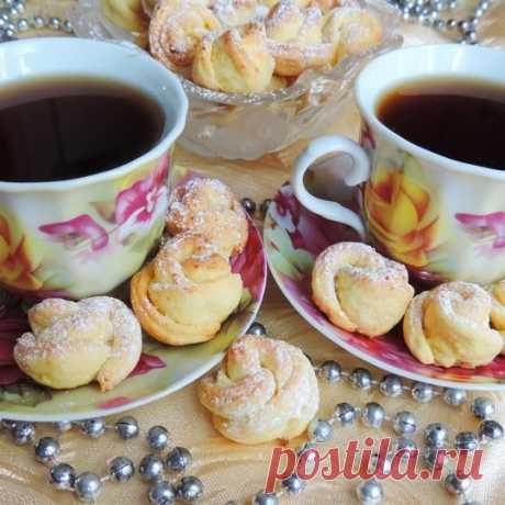 Творожное печенье «Чайная роза» - пошаговый рецепт с фото, ингредиенты, как приготовить - Hi-chef.ru