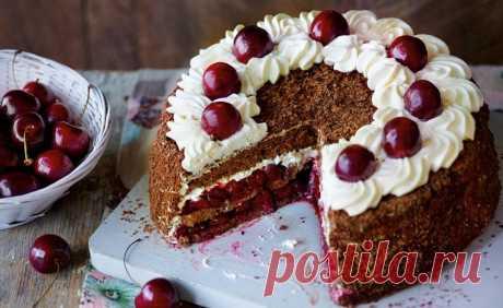 Торт Черный лес: пошаговый фото-рецепт — Все про торты: рецепты, описание, история