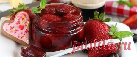 Варенье из клубники с целыми ягодами • Рецепт Вкусное и нежное домашнее варенье из клубники с целыми ягодами на зиму. К тому же ягоды получатся плотными и не разваренными.