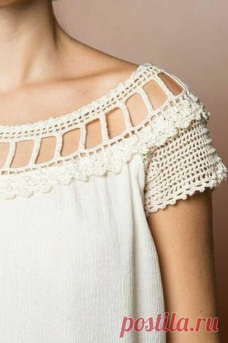 Комбинируем ткань и вязание в одежде. Идеи для воплощения и схемы для вязания | Мама может все | Яндекс Дзен