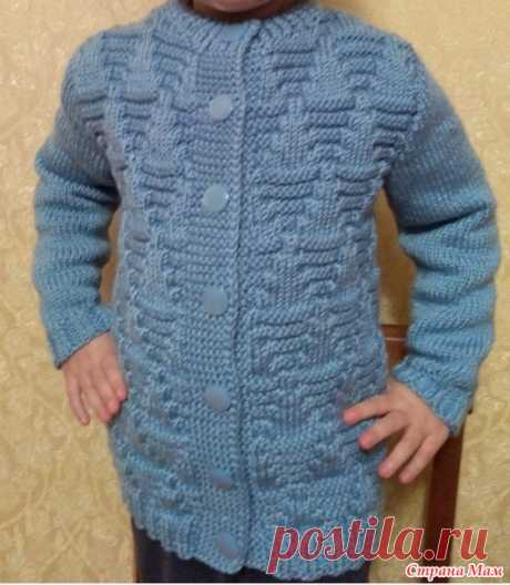 . Жакетик для внучки связанный спицами - Вязание - Страна Мам