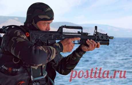 АДС – автоматическая винтовка российских боевых пловцов для подводной стрельбы . Чёрт побери