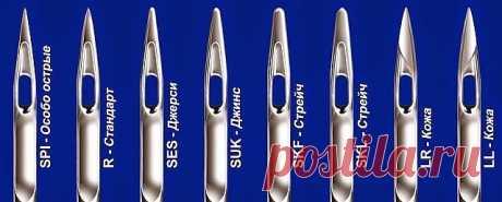 Обозначения на иглах   На иглах существуют буквенные обозначения, которые определяют область применения каждой конкретной иглы, т.е. для каких типов тканей она предназначена.  Расшифровка этих значений такова:   H - Универсальные иглы - Острие иглы слегка закруглено, эти иглы подходят для «не капризных» тканей, лен, бязь, хлопок и другие.   H-J (jeans) - Иглы для плотных тканей - имеют более острую заточку, вследствии чего подойдут для шитья толстого материала — джинсы, са...