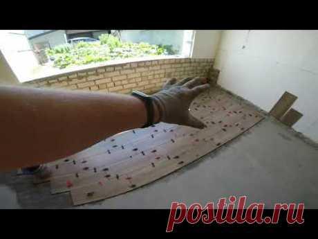 Укладка плитки на пол в летней кухне Полусухая стяжка