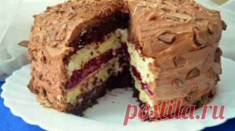 Многослойный торт Мишель для любителей тортов с кислинкой Торт Мишель - очень хорошо пропитанный, вкусный и красивый, с небольшой кислинкой от вишневого желе. Для праздничного стола - замечательный вариант!