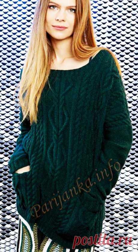 Пуловеры и туники теплые спицами   Записи в рубрике Пуловеры и туники теплые спицами   Дневник Marinichka