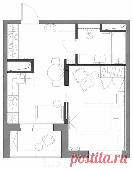 Квартира с акцентами и зеркальной дверью - Скандинавский - Москва - от эксперта Alisa Kashcheeva | Houzz Россия