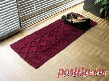 Схемы вязания ковриков для обуви