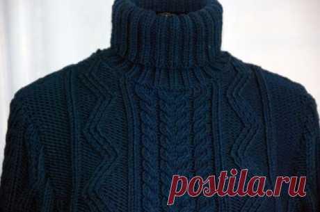 Красивый узор для мужского свитера. Схема.