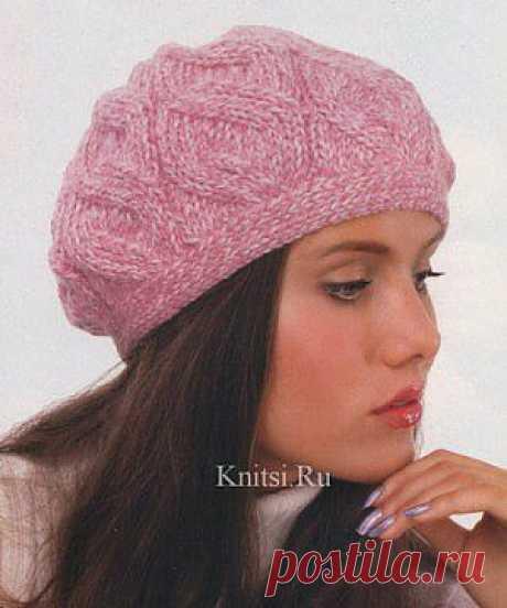Берет. Вязание для женщин / Шапки береты шарфы / Спицами