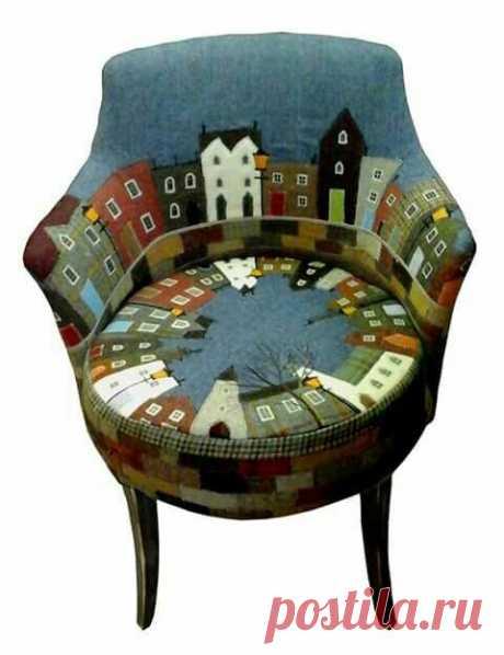 Кресло Город Модная одежда и дизайн интерьера своими руками