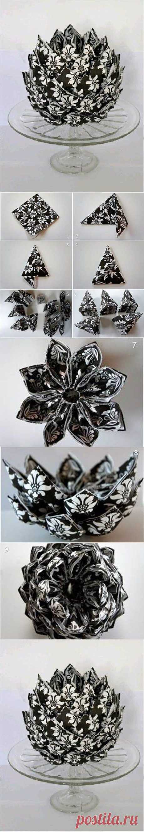 DIY Napkin Artichoke Decoration   iCreativeIdeas.com
