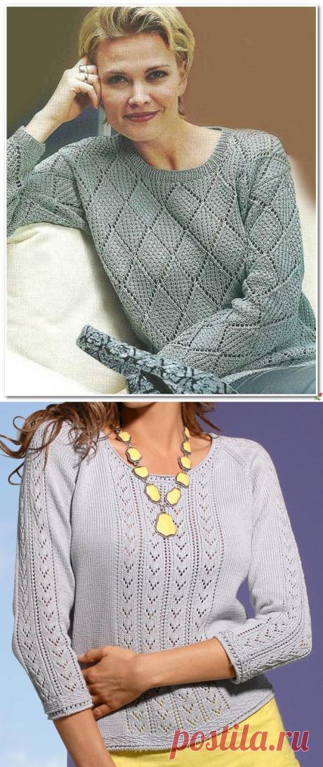 Элегантный серый..., правильный узор, и на вас самый стильный джемпер! Хорошая подборка для вязания.   Asha. Вязание и дизайн.🌶   Яндекс Дзен