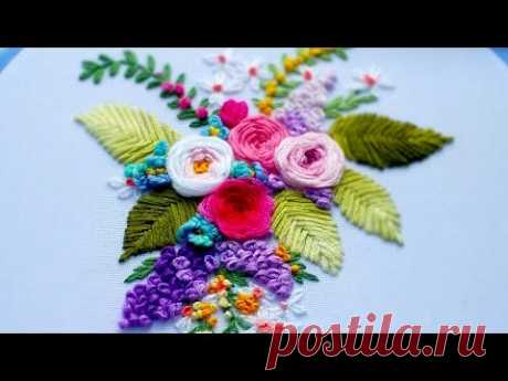 Hand Embroidery: WebRosa🌹Вышивка: Роза Паутинка🌹