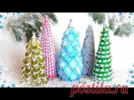 Ёлка своими руками из разных материалов, 5 идей / diy Christmas tree