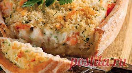 Хрустящий пирог с треской, пикшей и креветками. Пошаговый рецепт с фото на Gastronom.ru