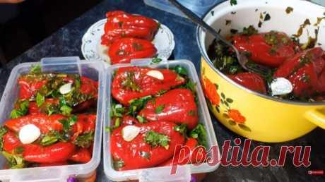 Маринованный красный перец — самый вкусный рецепт закуски! Заготовка на зиму