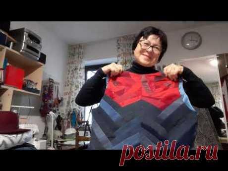 Куртка в технике синель и безрукавка в технике пэчворк и украшение из ниток