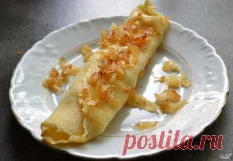 Блины с печеночной начинкой - пошаговый рецепт с фото на Повар.ру