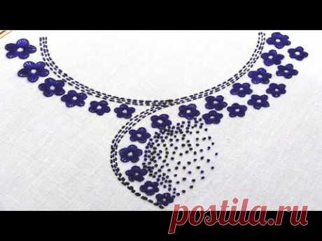 Very simple kurti neck design stitching tutorial,Simple and easy neck design stitch