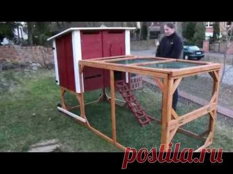 Hühner-Traktor, Chicken-Tractor, mobiler Hühner- oder Kaninchenstall mit Auslauf